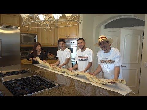 MAKING THE WORLD'S BIGGEST BURRITO! (10 feet long!) | MAMA RUG AND PAPA RUG
