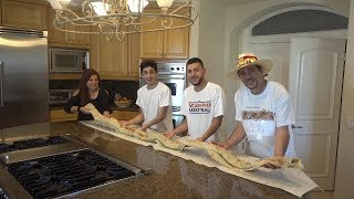 MAKING THE WORLD'S BIGGEST BURRITO! (10 feet long!) | MAMA RUG AND PAPA RUG