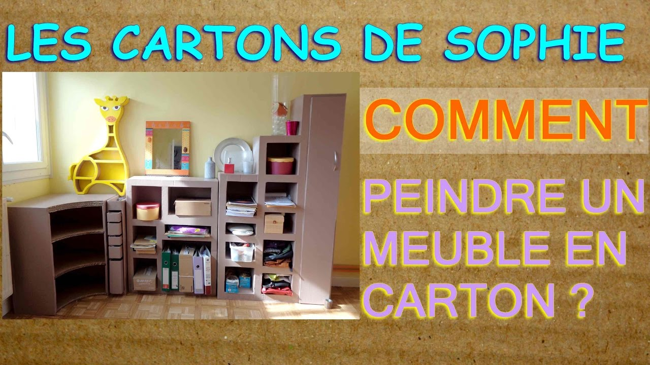 deco meubles en carton astuces pour bien peindre sans se fatiguer youtube. Black Bedroom Furniture Sets. Home Design Ideas