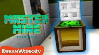 How to Make a WORKING TRASH CAN in Minecraft | MASTER MINE TUTORIALS
