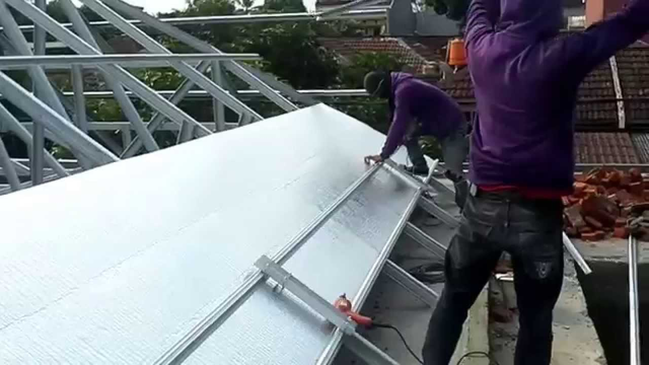 aluminium foil pada baja ringan bluescope tangguh pemasangan alumunium double youtube