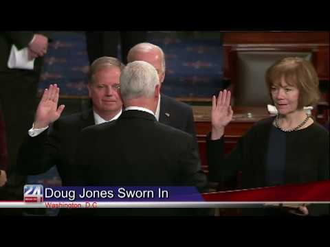 Doug Jones and Tina Smith Sworn into Office