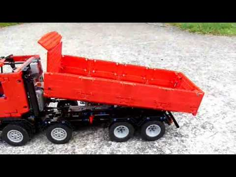 lego technic camion benne 8x4 youtube. Black Bedroom Furniture Sets. Home Design Ideas