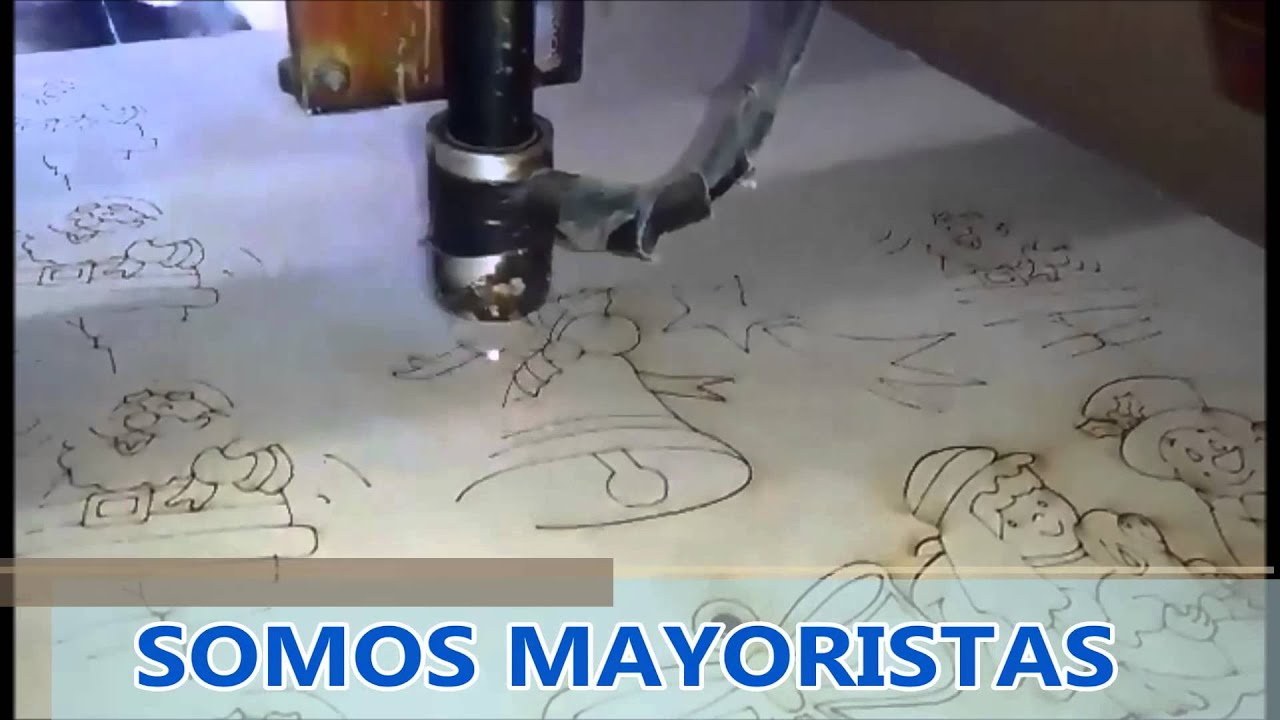 Adornos navide os corte con laser youtube for Adornos navidenos corte ingles