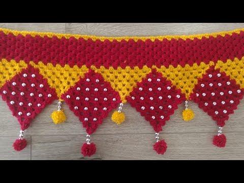 Door Hanging Toran Making at Home | Woolen Toran New Design | Door Hanging Crochet 2019