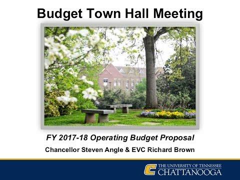 UTC Budget Town Hall Meeting