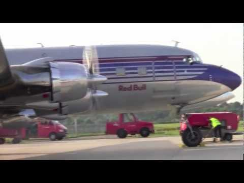 Heavy engine start up Douglas DC-6 and Super Constellation Breitling