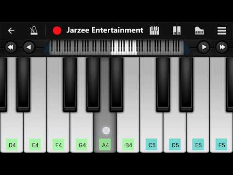 Nokia Tune on Perfect Piano| Easy Mobile Piano Tutorial | Jarzee Entertainment