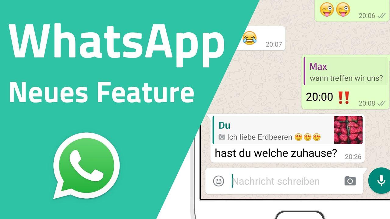 Zitat Funktion Whatsapp