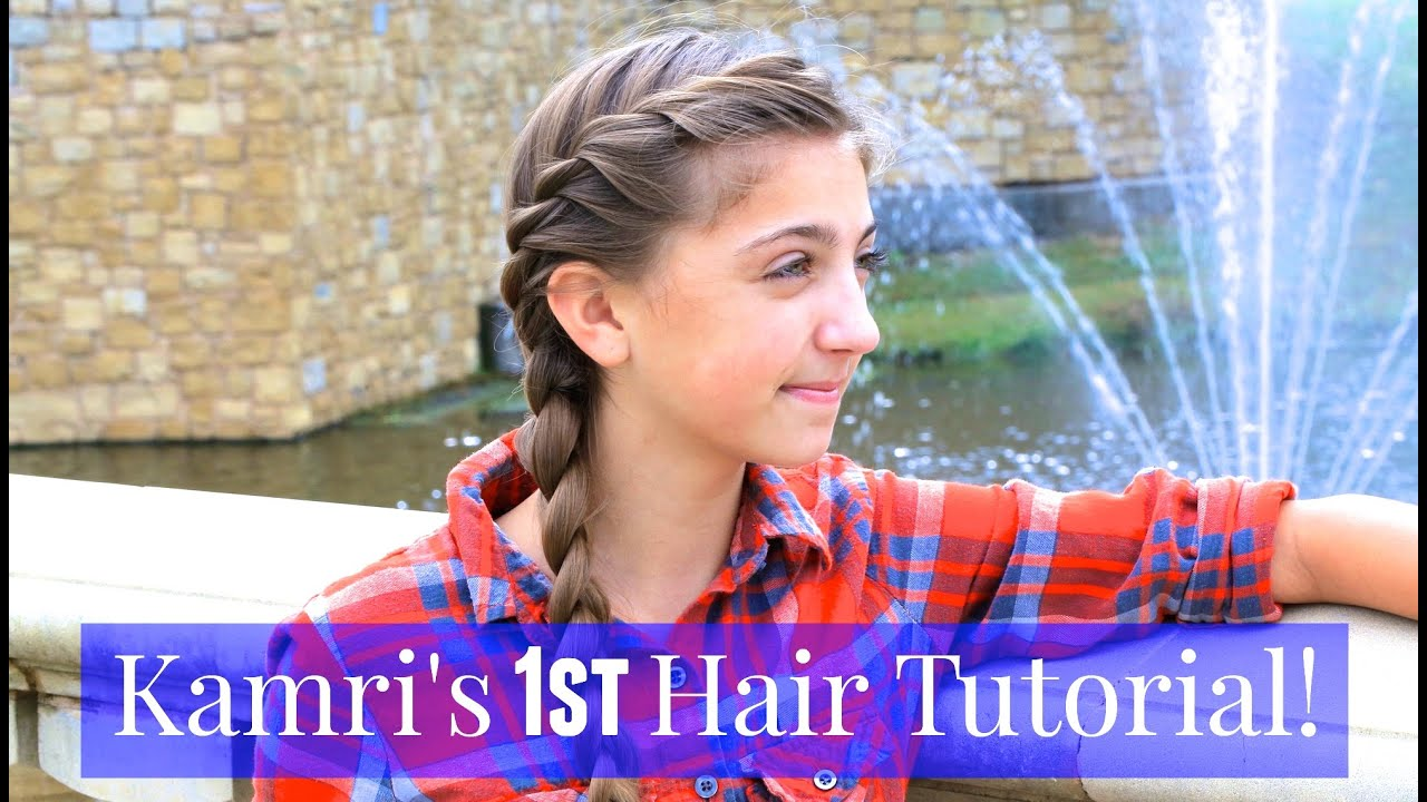 French twist into side braid kamris 1st tutorial youtube solutioingenieria Image collections