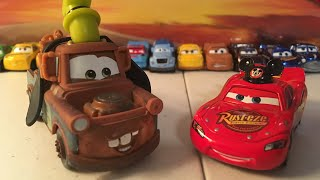 McQueen Monday: Goofy Mater and Lightning McQueen with Mickey hat diecast reviews