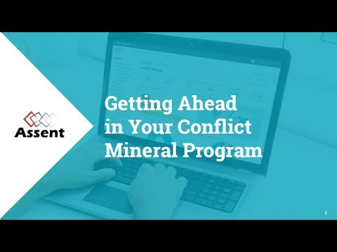 [Webinar] Getting Ahead in Your Conflict Mineral Program