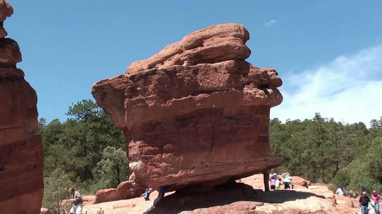 Balanced Rock Garden Of The Gods Colorado Springs Youtube