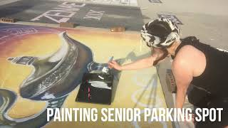 Painting Senior Parking Spot:  August 2019