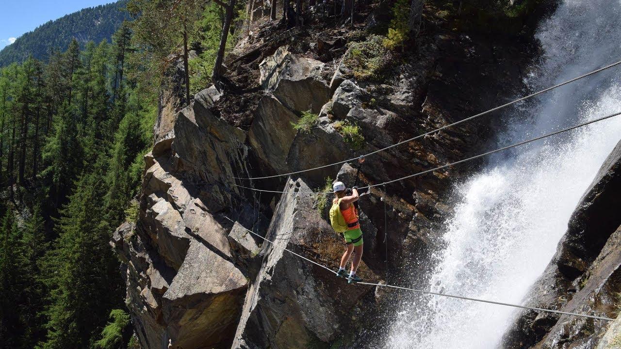 Klettersteig Lehner Wasserfall : Lehner wasserfall klettersteig youtube