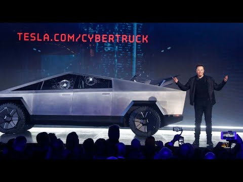 Tesla Cybertruck: Watch Tesla CEO Elon Musk unveil a futuristic new pickup