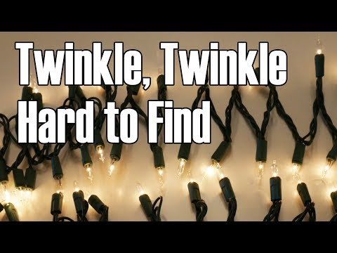 The Twinkling Light Set: An increasingly rare but delightful type of decorative lighting