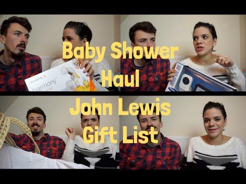 Baby Shower Haul - John Lewis Gift List - Pt.1 - YouTube