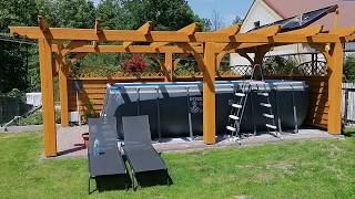 Podgrzewanie wody w basenie ogrodowym - darmowa energia słoneczna solar DIY
