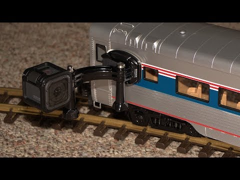 Gopro Unusual View Of Amtrak Model Penger Train