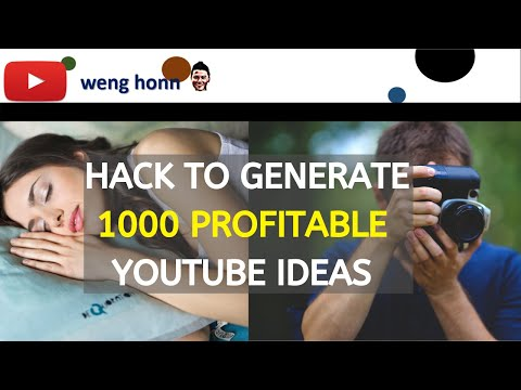 Tricks to generate 1000 Profitable Youtube Ideas - This Video Include 100 Youtube ideas