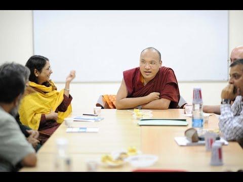 His Holiness the Karmapa Addresses Students and Faculty at Ambedkar University Delhi