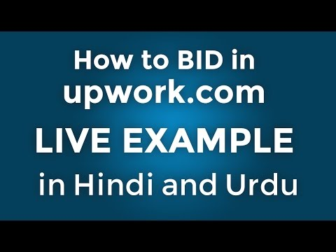 How to make a bid in upwork - live example