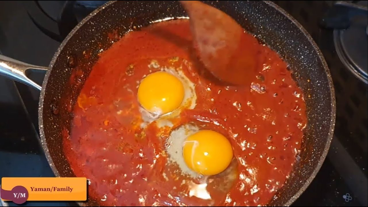 🍳Hem Lezzetli Hem Ekonomik Kahvaltı.Nefis Salçalı Yumurta Nasıl Yapılır.Kahvaltı Tarifleri.