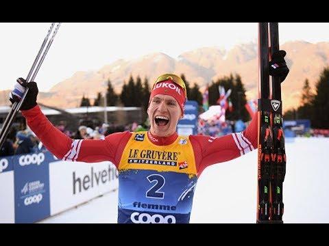 Александр Большунов   победитель 34 километрового масс старта на IV этапе Ски Тура 2020 в Мерокере