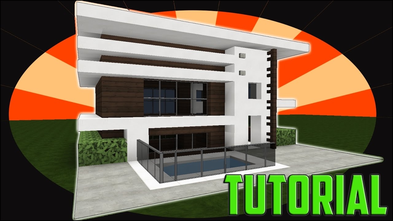 how to make a modern house in minecraft 5