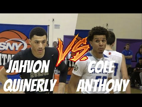 d40321e9be52 Jahvon Quinerly Goes OFF For 37! Hudson Catholic vs Molloy! Cole Anthony