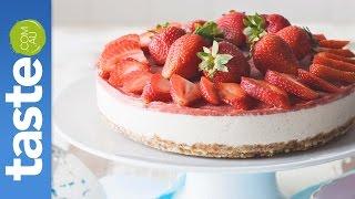 How To Make Raw Vegan Strawberry Cheesecake