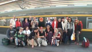 Rosa Bussarna Transsibiriska till Japan sträckan Mongoliet till Peking