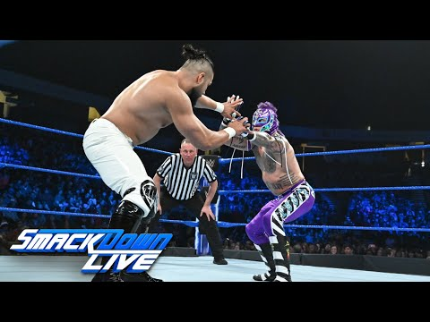 HINDI - Rey Mysterio vs. Andrade: SmackDown LIVE, 15 January, 2019