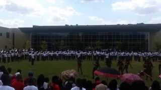 "Alabama State Mighty Marching Hornets Band 2014 ""Love Me"" at Pep Rally"