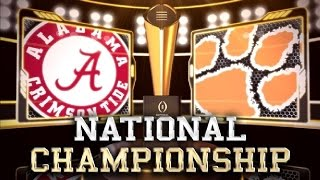 Repeat youtube video 2016 National Championship No. 1 Clemson vs No. 2 Alabama No Huddle