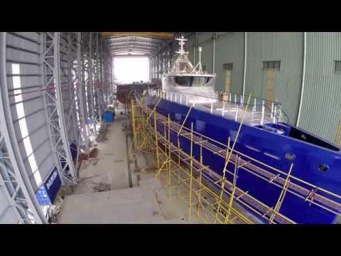 Launching of Damen FCS3307 and overview of Shipyard 189, Hai Phong, Vietnam.