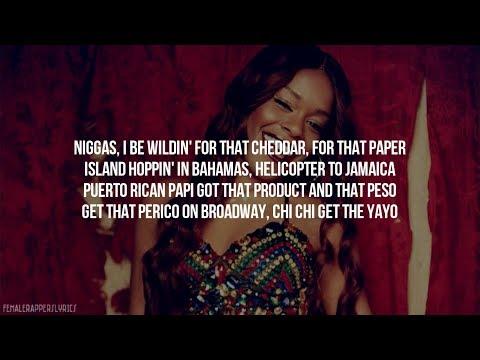 Azealia Banks - Chi Chi (Lyrics - Video)