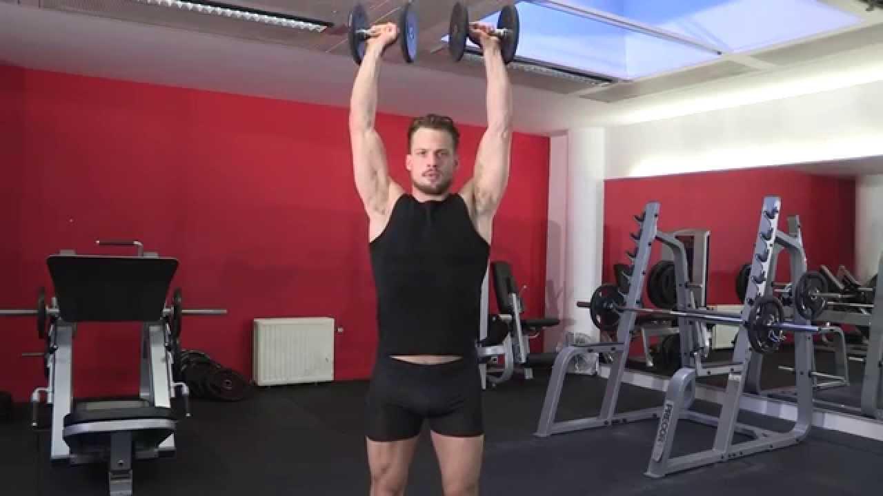 Exercice de musculation épaules - Développé Arnold debout ...