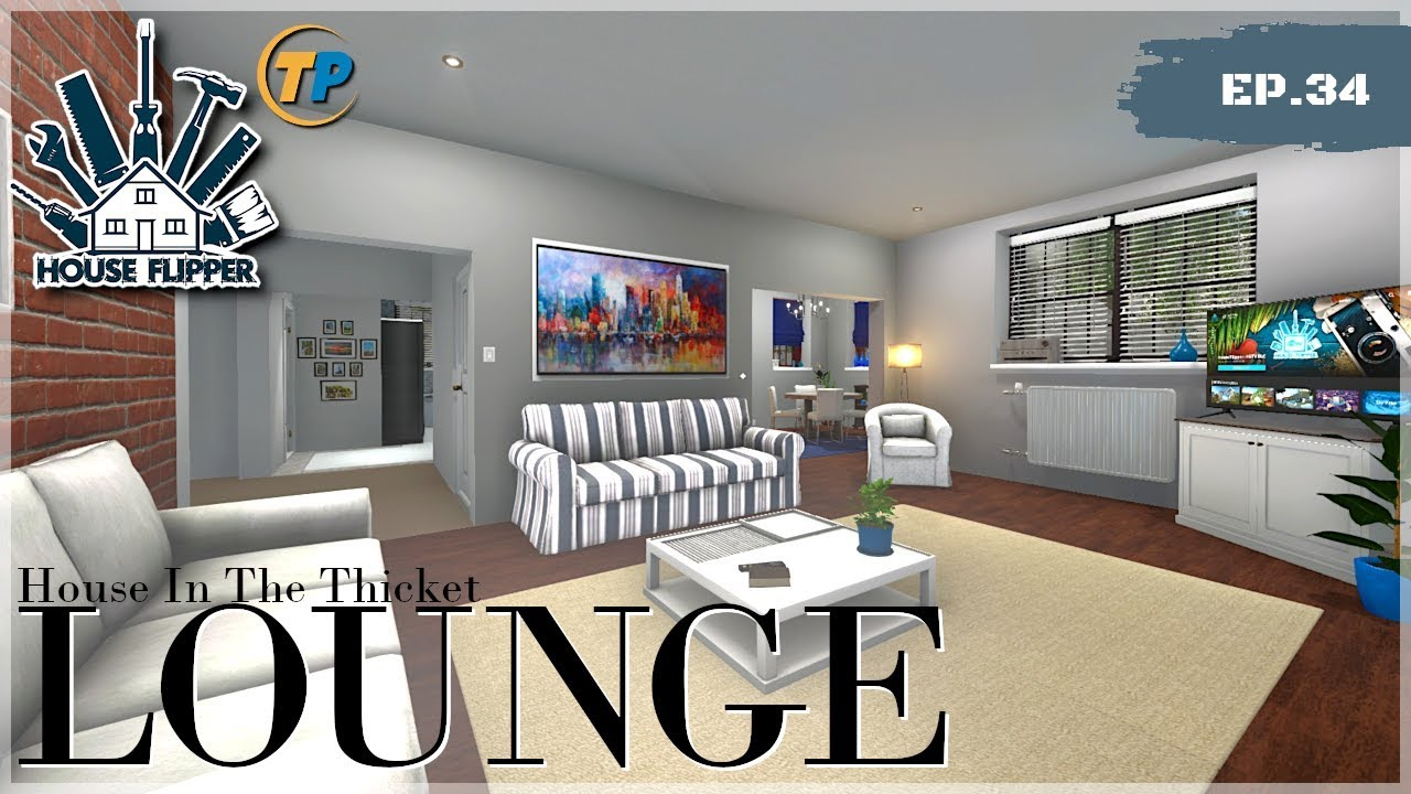 Modern Lounge House In A Thicket House Flipper Youtube