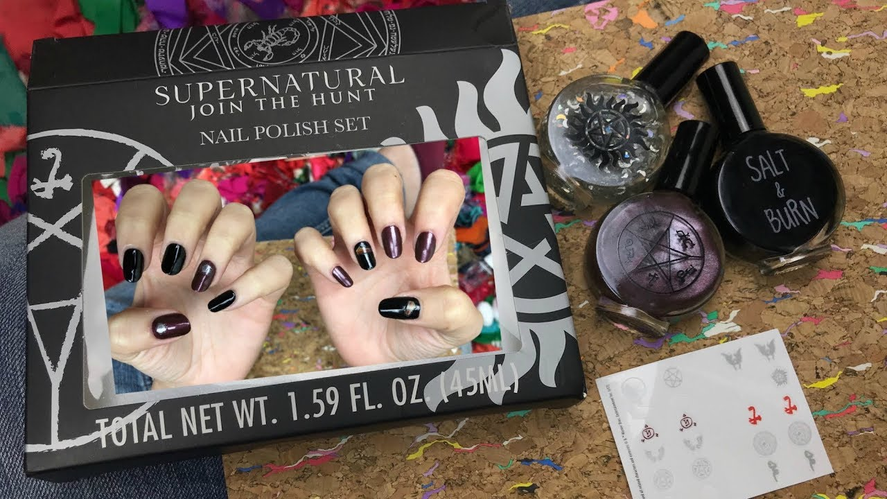 Painting my nails with a Supernatural nail polish kit! - YouTube
