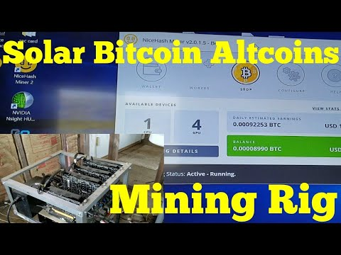 Mining Bitcoin Altcoins with SOLAR POWER