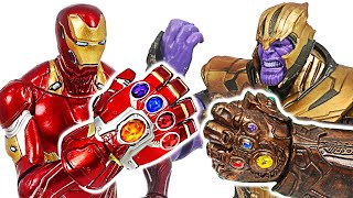 Iron Man Nano Gauntlets VS Thanos Infinity Gauntlets! | DuDuPopTOY