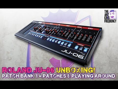 Roland Boutique JU-06 Unboxing and playing around with Bank 1 presets