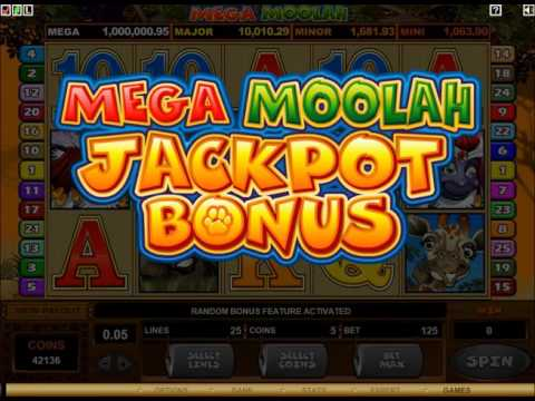 Mega Moolah Slot Game - Watch the Free Spins 1M Jackpot Win!