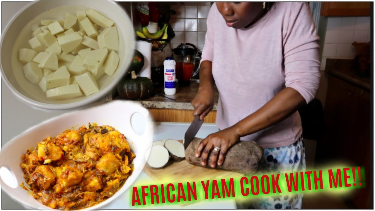 Cook with me African Yam into  Nigerian YAM PORRIDGE | ABI'S COOKING