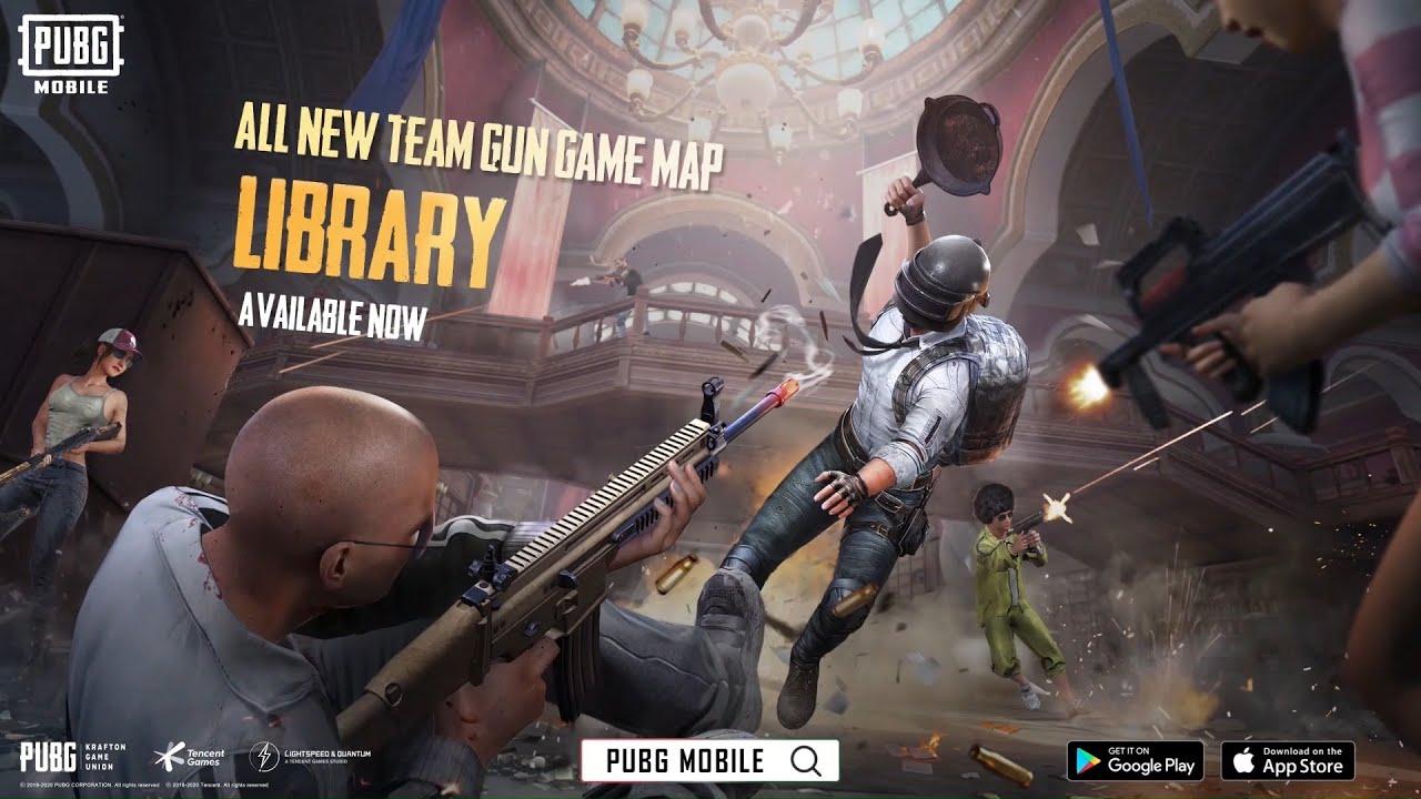 Mod Baru PUBG MOBILE: Team Gun Game - Library!