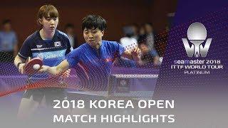 KIM Song I/SUH Hyowon vs KIM Olga/KIM Regina   2018 Korea Open Highlights (Pre)