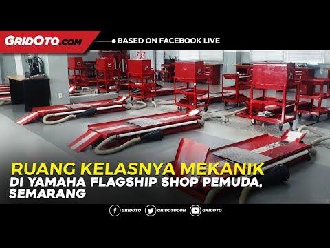 Mengintip Ruang Kelas Mekanik Yamaha di Yamaha Flagship Shop Pemuda, Semarang