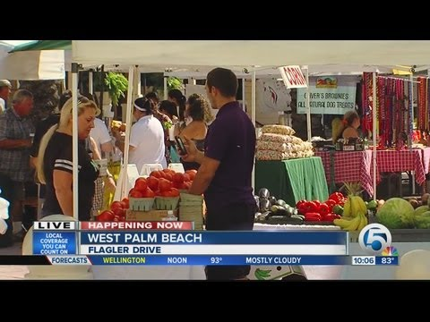 Final Green Market for this season in downtown West Palm Beach